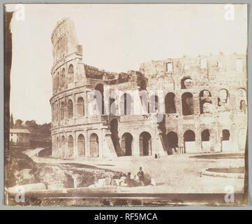 67. Colosseum, Rome, Second View. Artist: Calvert Richard Jones (British, Swansea, Wales 1802-1877 Bath, England). Dimensions: Image: 6 7/8 × 8 9/16 in. (17.4 × 21.7 cm)  Sheet: 7 5/16 × 8 7/8 in. (18.5 × 22.5 cm). Date: May 1846. Museum: Metropolitan Museum of Art, New York, USA. Author: Calvert Richard Jones. Rev. Calvert R. Jones. - Stock Photo