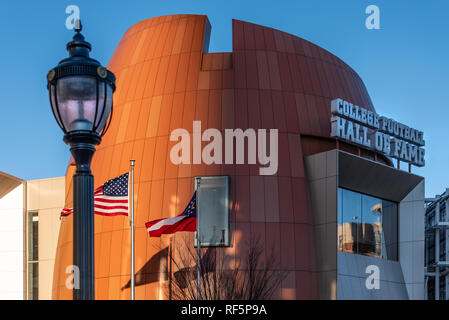 College Football Hall of Fame in downtown Atlanta, Georgia. (USA) - Stock Photo