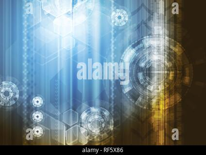 Bright abstract technology vector concept background - Stock Photo