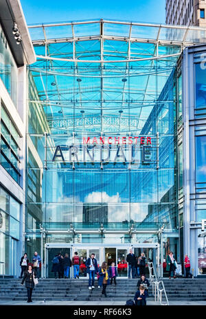 2 November 2018: Manchester, UK -  Corporation Street entrance to the Manchester Arndale shopping centre, one of the largest in the UK. - Stock Photo
