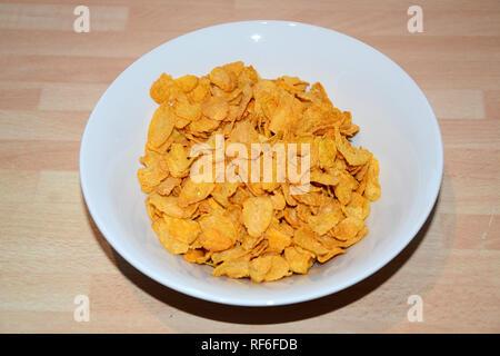 cornflakes, breakfast cereal - Stock Photo