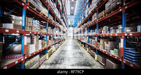 Products on rack - Stock Photo