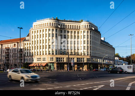Soho House Berlin is a members' club and hotel  located in a Grade II-listed Bauhaus-style landmark building in Mitte-Berlin - Stock Photo