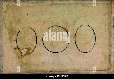 Drie ronde vormen, gesloten. Spieghel der schrijfkonste (series title). Dating: 1605. Place: Rotterdam. Measurements: h 199 mm × w 317 mm. Museum: Rijksmuseum, Amsterdam. Author: Jan van de Velde (I). - Stock Photo
