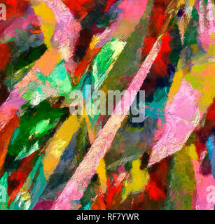 Abstract art background. Soft brushstrokes of paint. Good for printed pictures, postcards, posters or wallpapers and textile printing. Contemporary ar - Stock Photo