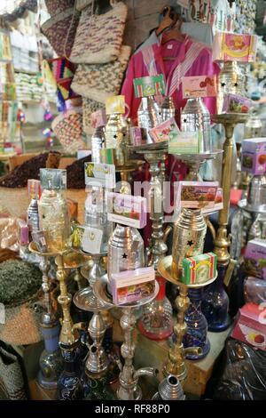 Sharia El Souk Street Bazaar, local shopping area in Aswan, Egypt, Africa