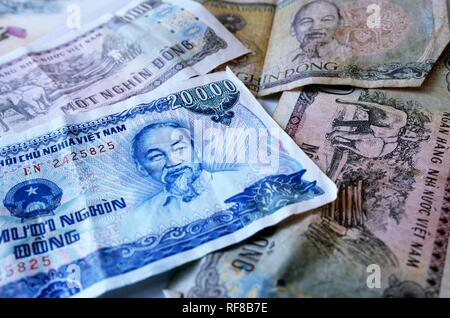 Dong, Vietnamese currency, Vietnam, Asia - Stock Photo