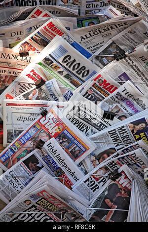 International daily newspapers - Stock Photo