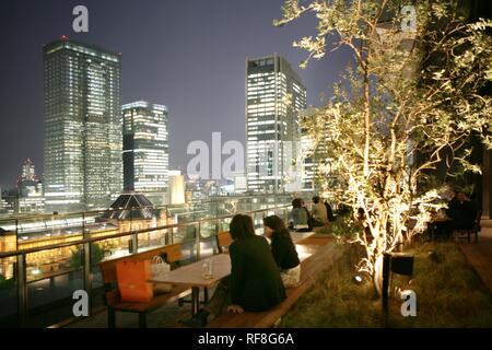Tokyo Station area with its many new office buildings, hotels, shopping malls and restaurants, Tokyo, Japan, Asia - Stock Photo