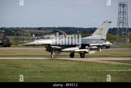 USAF United States Air Force General Dynamics F-16C Fighting Falcon - Stock Photo