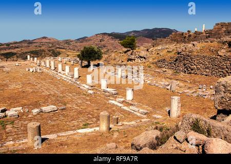 UNESCO World Heritage Hellenistic Greco-Roman site. Pergamon. Bergama, Izmir Province, Turkey - Stock Photo