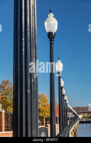 Washington, DC - Lamps along the Anacostia Riverwalk Trail. - Stock Photo
