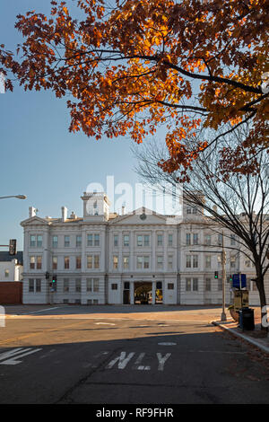 Washington, DC - The main gate of the Washington Navy Yard. - Stock Photo