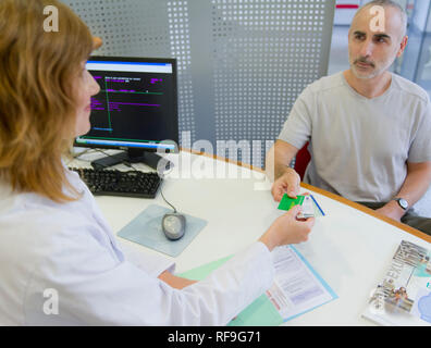 """Private hospital """"Clinique Saint Exupery de Toulouse"""", clinic specializing in the treatment of kidney disease, renal disease. Paperworks before or aft - Stock Photo"""