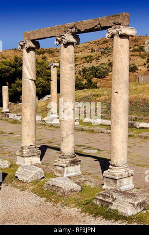 Ruins of Asklepion, ancient city of Bergama, Izmir province. Turkey - Stock Photo