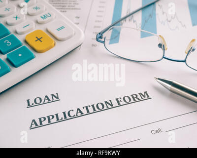 loan application form - Stock Photo