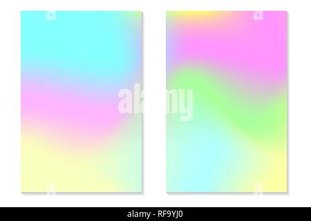 Hologram gradient backgrounds  Colorful holographic abstract