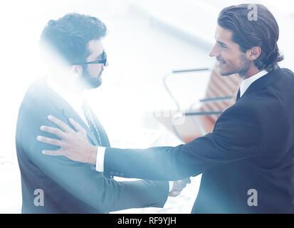concept of partnership.handshake business people - Stock Photo