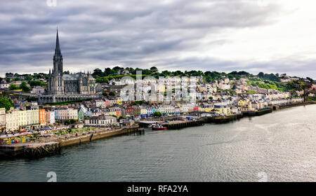 Quaint village and seaport of Cobh, in Cork County, Ireland. - Stock Photo