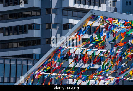 Scenes from along the waterfront of Wellington, New Zealand - Stock Photo