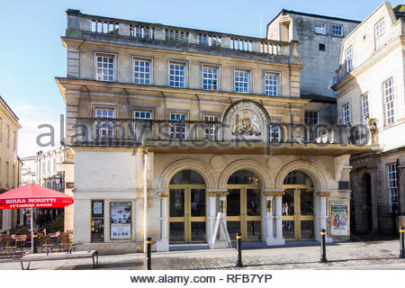 The front exterior and entrance of the  Theatre Royal in Bath, Somerset, England, UK - Stock Photo