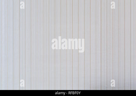 High resolution full frame background of pale and beige colored striped wallpaper. - Stock Photo