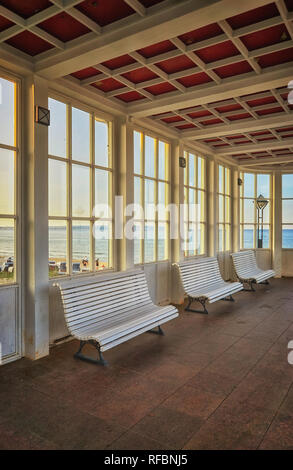 At the spa house in Binz on the island of Rügen on the Baltic Sea. Mecklenburg-Western Pomerania, Germany - Stock Photo
