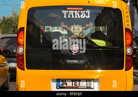 Taxi at Istanbul. Turkey - Stock Photo