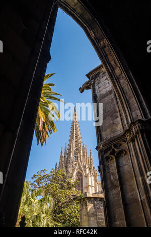Detail of La Catedral de la Santa Creu i Santa Eulalia (Barcelona Cathedral) - Stock Photo