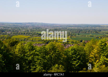 View of Princes Risborough from the top of Brush Hill, Whiteleaf, Buckinghamshire, UK. - Stock Photo
