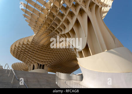 SEVILLE, SPAIN. Metropol Parasol Parasol building in Seville, Spain- design by J. MAYER H. Architects, Spain - Stock Photo