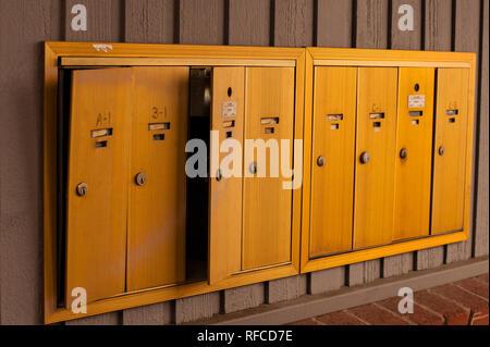 Mailboxes broken into - Stock Photo