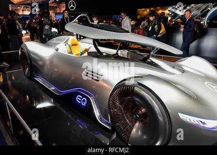 Mercedes EQ Silver Arrow Concept Car at the 2019 CES ...