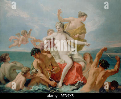 Triumph of the Marine Venus. Date/Period: Ca. 1713. Painting. Oil on canvas. Height: 1,600 mm (62.99 in); Width: 2,108 mm (82.99 in). Author: SEBASTIANO RICCI. RICCI, SEBASTIANO. - Stock Photo