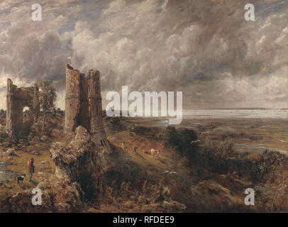 Hadleigh Castle, The Mouth of the Thames--Morning after a Stormy Night. Date/Period: 1829. Painting. Oil on canvas. Height: 1,219 mm (47.99 in); Width: 1,645 mm (64.76 in). Author: John Constable. - Stock Photo