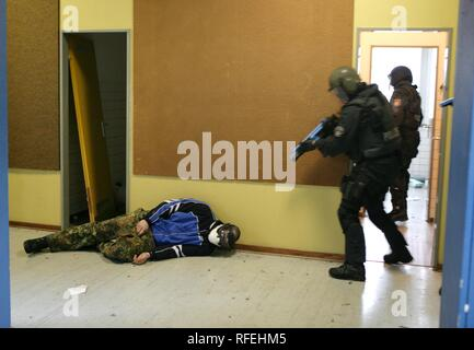 Exercise of a Police SWAT Team, Germany - Stock Photo