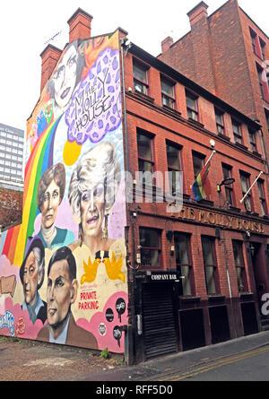 The Molly House pub / bar, Richmond street Manchester, England, UK, M1 3NB - Stock Photo