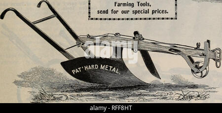 """. Seeds and implements. Nursery stock Rhode Island Providence Catalogs; Vegetables Seeds Catalogs; Flowers Seeds Catalogs; Agricultural implements Catalogs. I If you are buying an outfit of   Farming Tools, i send for our special prices.. The Conical Plow The fact that since we first introduced """"The Conical"""" we have made and sold over 10,000 of this kind of Plows, should be a good recommendation for it. The increased demand for this Plow shows the strong hold it has among the farmers. For all kinds of soil and good work it has no equal. One advantage of buying your Plows § I from us  - Stock Photo"""