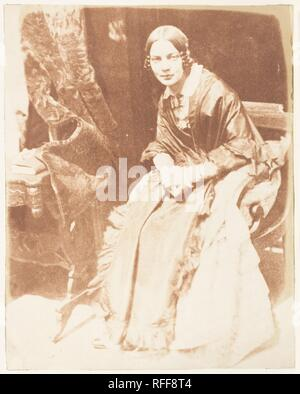 Lady Elizabeth Eastlake. Artist: David Octavius Hill (British, Perth, Scotland 1802-1870 Edinburgh, Scotland); Robert  Adamson (British, St. Andrews, Scotland 1821-1848 St. Andrews, Scotland). Person in Photograph: Person in photograph Lady Elizabeth Rigby Eastlake. Photography Studio: Hill and Adamson (British, active 1843-1848). Date: 1843-47. Museum: Metropolitan Museum of Art, New York, USA. - Stock Photo