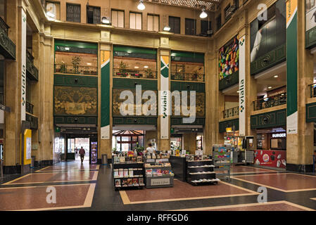 hall of the abando indalecio prieto train station in bilbao, spain - Stock Photo