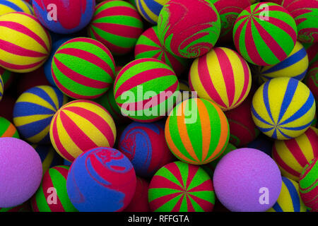 Vivid color toy balls - Stock Photo