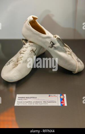 At the exposition of San Siro museum - Stock Photo