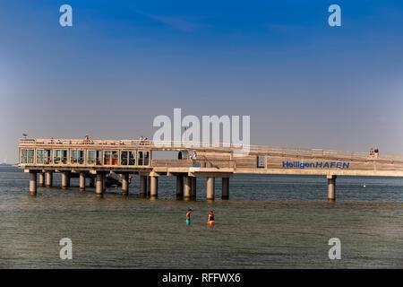 Pier, Heiligenhafen, Schleswig-Holstein, Germany, Europe - Stock Photo
