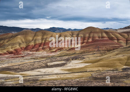 Photo of the painted hills in the state of Oregon - Stock Photo