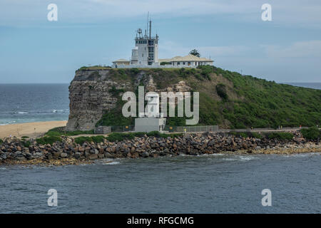 Australia, New South Wales, Newcastle, lighthouse - Stock Photo