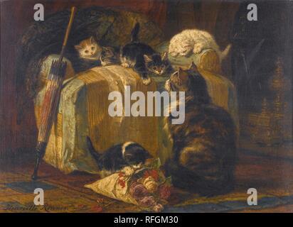 Henri-Joseph Harpignies FRENCH 1819 - 1916 ALLE DES TILLEULS SAINT-PRIV, YVONNE.jpg - RFGM31 - Stock Photo