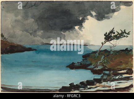 The Coming Storm. Dated: 1901. Dimensions: overall: 36.9 x 53.5 cm (14 1/2 x 21 1/16 in.). Medium: watercolor over graphite on wove paper. Museum: National Gallery of Art, Washington DC. Author: Winslow Homer. - Stock Photo
