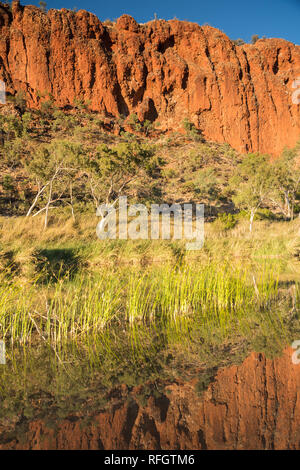 Glen Helen gorge in the West MacDonnell Ranges, Northern Territory, Australia. - Stock Photo