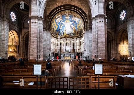 Interior of Sacré-Cœur Basilica, Paris, France