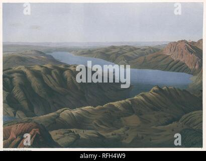 Panorama des Schafberges in Ober-sterreich. Blatt 1, Simony, Friedrich.jpeg - RFH4W9 - Stock Photo
